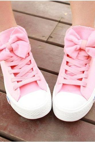 LOVELY BOWKNOT CANVAS SHOES