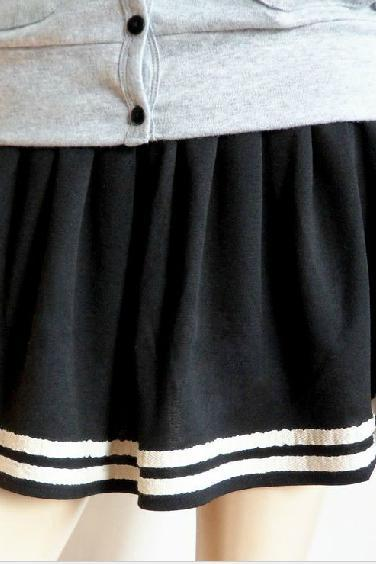 2014 new arrival navy skirt