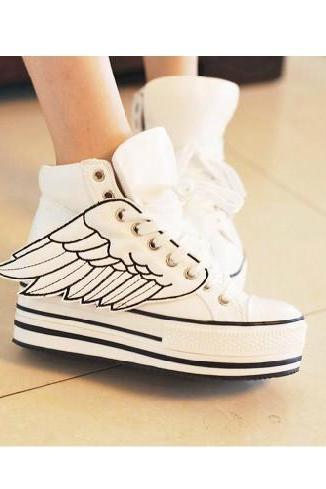 Wing White Platform Shoes