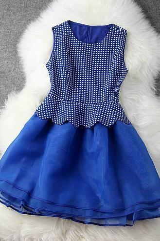 Slim waist temperament little summer dress princess dress H442214