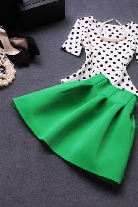 Two-piece suit Skirt Dot Dress AVc