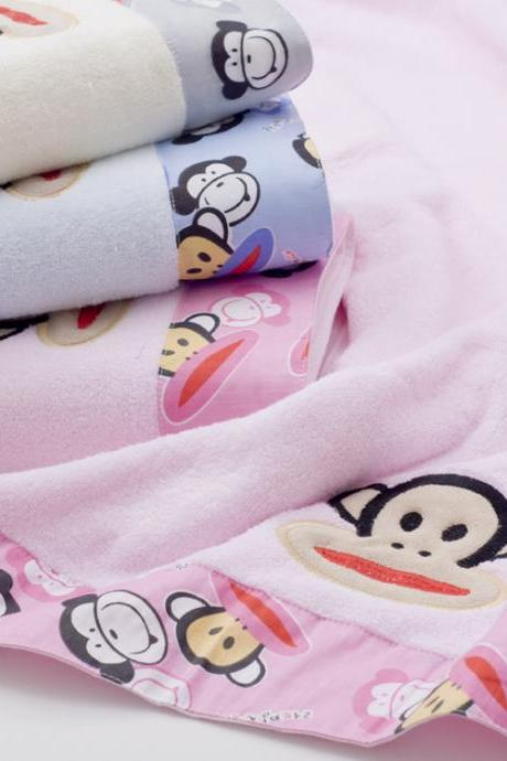 New Cartoon Monkey Towels Children Beach Towel cotton bath towel,400g/piece,1 piece/lot,140*70cm