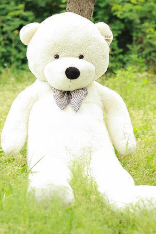 Stuffed Teddy Bear Giant Big Cute Beige/Brown Plush Huge Soft Cotton Toy 120cm/47'