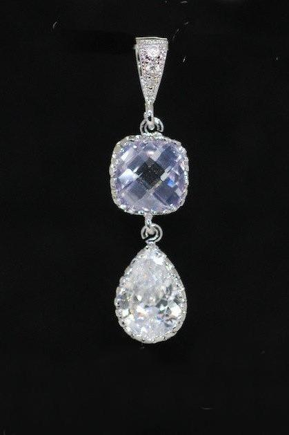 Light Violet Teardrop Pendant (P049)
