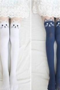 cut uk tights for girlfriend gift New Fall 2013 cat tattoo tights fashion tights