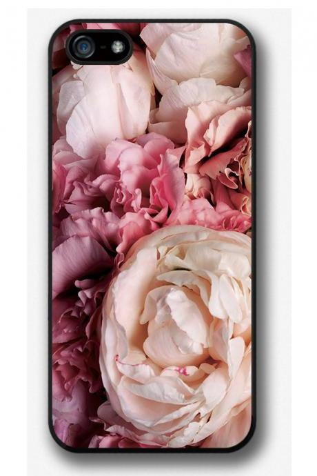 iPhone 4 4S 5 5S 5C case, iPhone 4 4S 5 5S 5C cover, Pink Peonies