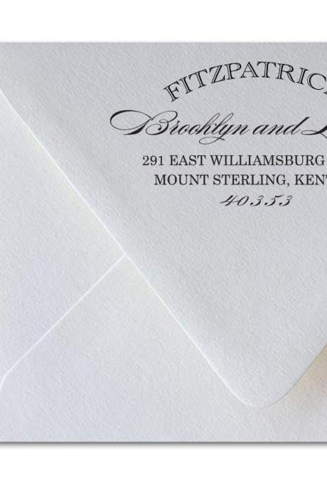 Wedding Return Address Calligraphy - Fitzpatrick