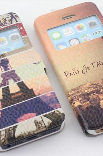 iPhone 5s Protective case ,iPhone 5 Protective case, Eiffel Printing iPhone 5s Cover ,Cute iPhone 5 Cover, iphone 5s /5 Flip Case