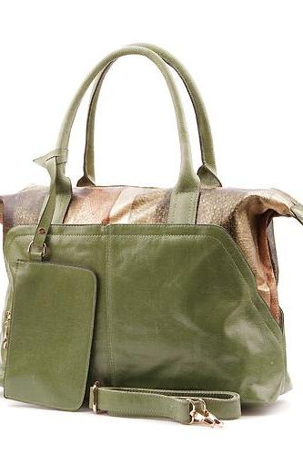 Petrol Leather Handbag. Green Tote. Large Handbag. Travel Handbag. Laptop Handbag. Messenger Handbag.