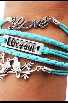 Trendy Turquoise Love Bird Bracelet