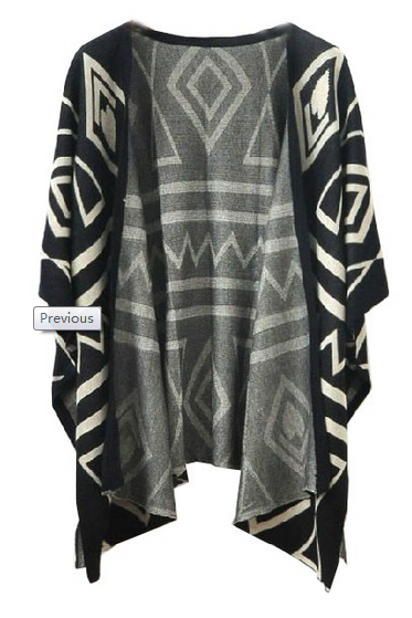 Black Aztec Sweater