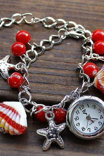 Fashion leisure shell bracelet watch bracelet students watch