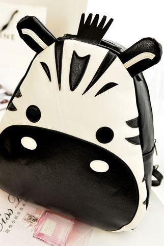 Cute Cartoon Hippo Contrast Color Backpack