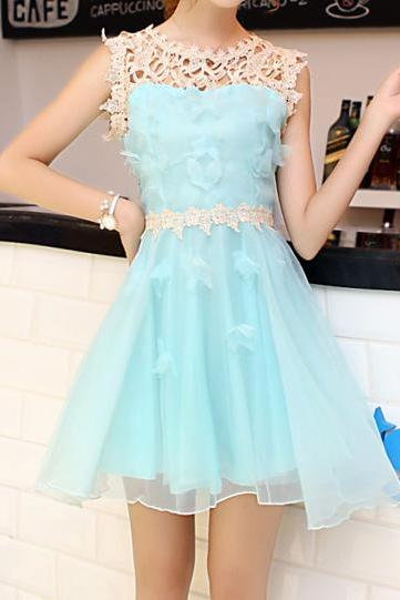 Organza lace princess dress