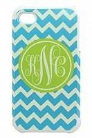 Lime Turquoise Chevron Iphone case