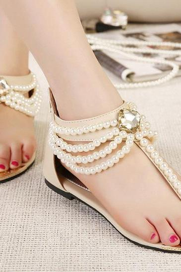 Beaded fashion sandals SS05081SH