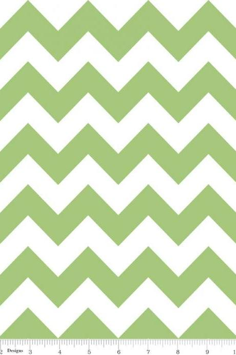 Green Chevron Minky Baby Blanket - Create Your Own - Made to Order
