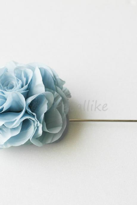 Wrinkled Fabric flower Men's Boutonniere / Buttonhole for wedding,Lapel pin,tie pin
