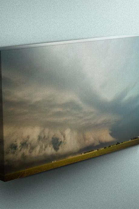Thunderstorm in Kansas - Fine Art Photograph on Gallery Wrapped Canvas - 16x12' & more
