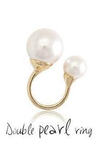 Double Pearls Ring