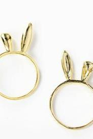 Lovely rabbit ear ring, little finger ring