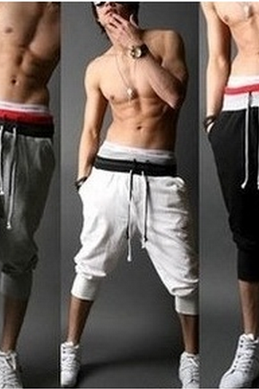 Fashion Men WHITE red gray black sport shorts pants Casual Sport Sweat Pants Harem Training loosed Dance Baggy Jogging Trousers Slacks