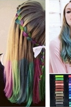 36 Colors Easy Temporary Pastel Non-toxic Hair Chalk Dye Soft Hair Pastels Kit DIY Painting Kit
