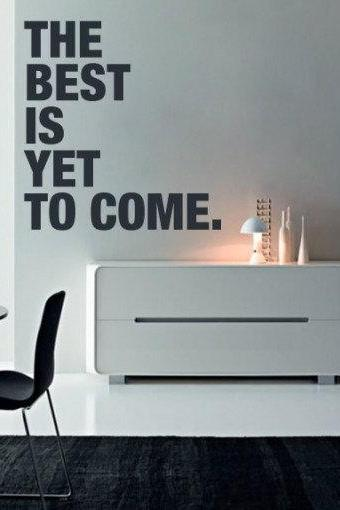 Wall Decal Quotes - The Best is Yet to Come Quote Sticker Home Decor for Housewares Vinyl Wall Decal
