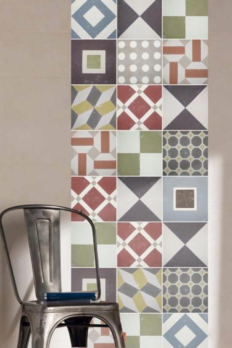 Tiles Sticker Sintra for Covering Kitchen Wall Portuguese Decoration Decal (Pack with 48) - 4 x 4 inches