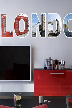 London Text City Letters Decal Urban Images Sticker Home Design