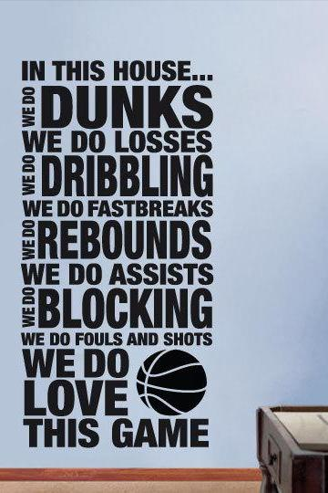 Wall Decal Quotes - Love This Game Wall Text Housewares Sticker NBA Typographic Decal