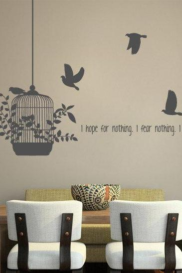Wall Decal Quotes -Hope for Nothing Free Quote Vinyl Decal for Housewares