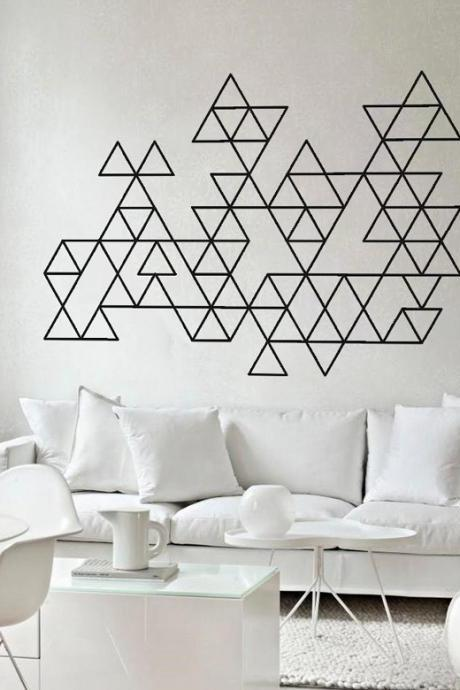 Geometric Triangles Wall Art Decal Sticker Home Decor for Housewares
