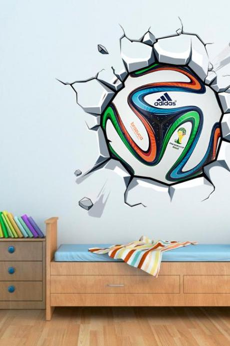World Cup Soccer Ball Vinyl Wall Effect Decal for Housewares