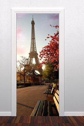 Door to Paris Wall Art Print Decoration Vinyl for Modern Homes