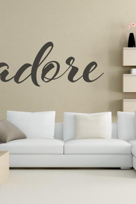 J'Adore Dior Fashion Quote Wall Sticker Glamour Decor Wall Art for Housewares
