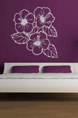 Floral Wall Decal Home Design Sticker Flowers