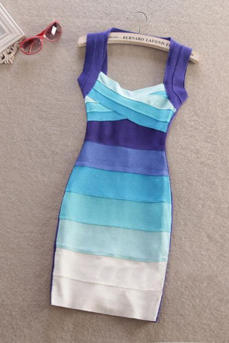 Slim striped dress fashion sexy dress CC05151DR