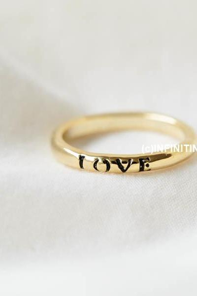 black mini love letter knuckle ring,RN2551