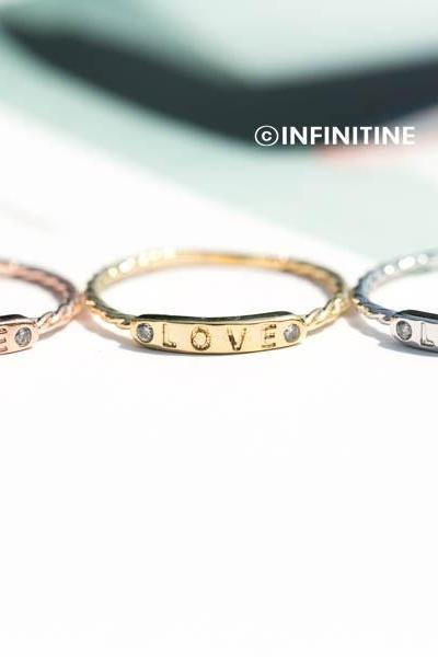 love letter bar ring,RN2450