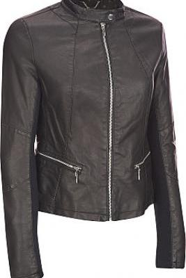 WOMEN BLACK LEATHER JACKET, WOMEN BIKER LEATHER JACKET