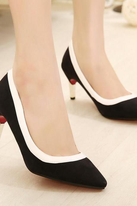 Female shoes with pointed toe high-heeled