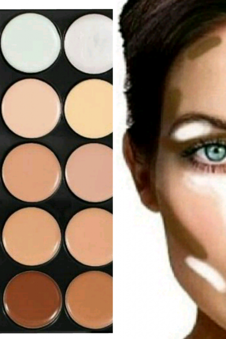New Face Camouflage Contouring Concealer Palette 15 Mac Colors Makeup
