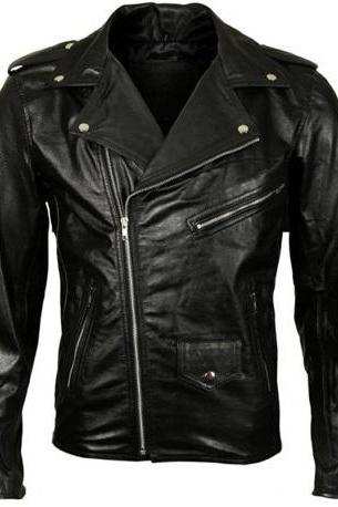 Black Classic Brando Leather Jacket