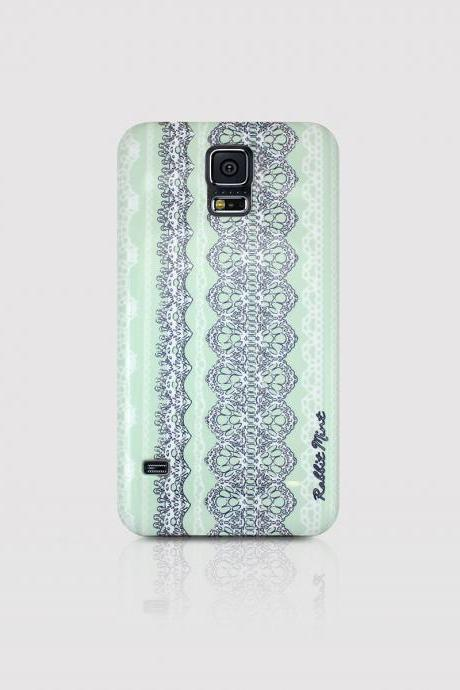 Samsung Galaxy S5 Case - Lace & Mint (00016-S5)