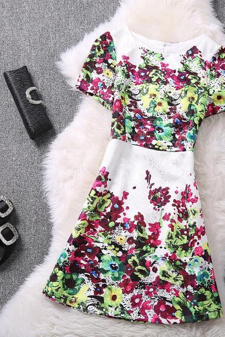 Summer fashion chiffon dress CC052718DR