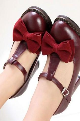 Adorable Bow Design Chunky Heel Pumps