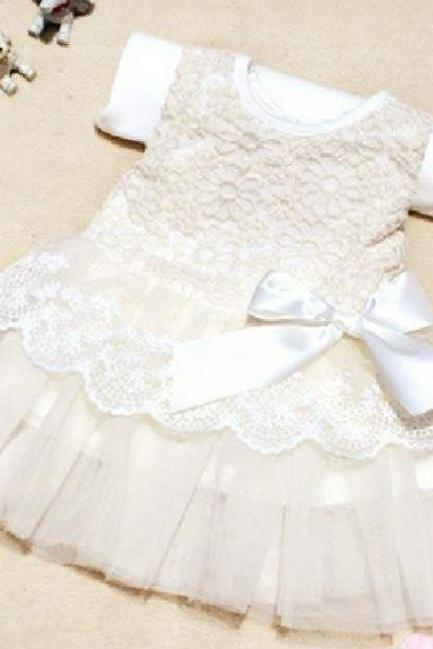 White Newborn Dress White Wedding Dress White Christening Dress
