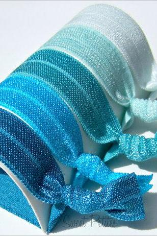 Hair Ties Blue Ombre Collection Set of 5 Mane Accessory