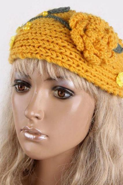 Yellow Headbands Yellow Ear Warmers Flower Headbands